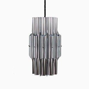 Lampada a sospensione Pan vintage in alluminio di Bent Karlby per Lyfa