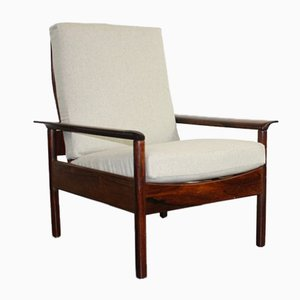 Mid-Century Rosewood Armchair by Hans Olsen