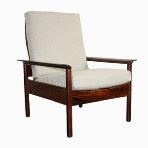 Mid-Century Rosewood Armchair by Hans Olsen