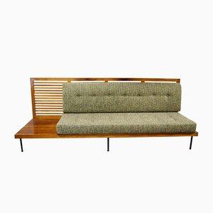 Sofá con mesa auxiliar, años 50