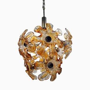 Murano Glass Flower Sputnik Chandelier from Mazzega, 1960s