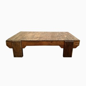 Tavolino da caffè industriale in legno