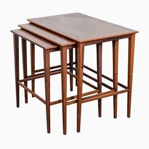 Danish Matching Teak Nesting Tables, 1960s