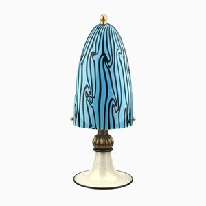Murano Glass Table Lamp with Gold Foil Base