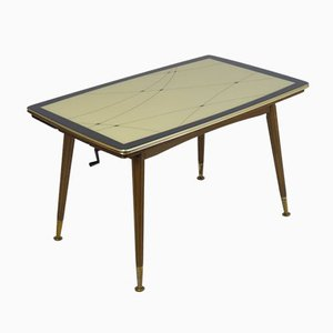 Table d'Appoint Vintage avec Dessus en Verre, 1961