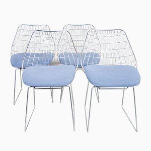 Sedie da pranzo SE05 Wire di Cees Braakman per Pastoe, anni '50, set di 4