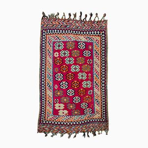 Middle Eastern Hand-Knotted Kilim Rug, 1950s