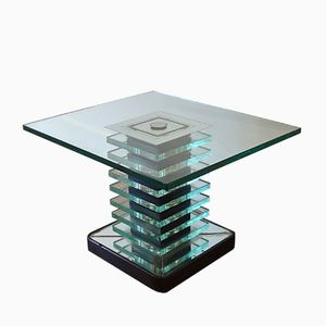 Glass Coffee Table by P.Chiesa for Fontana Arte, 1940s