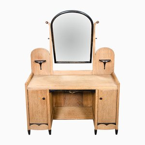 Dutch Art Deco Dressing Table with Mirror, 1930s