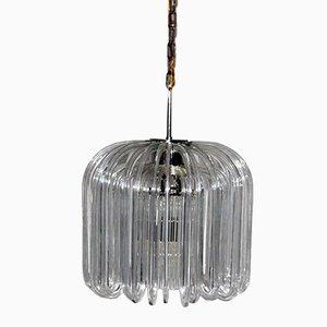 Lámpara de araña austriaca de vidrio de Cari Zalloni para Bakalowits, años 60