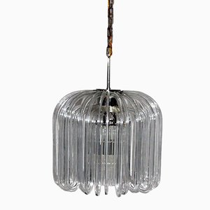 Österreichischer Glas Kronleuchter von Cari Zalloni für Bakalowits, 1960er