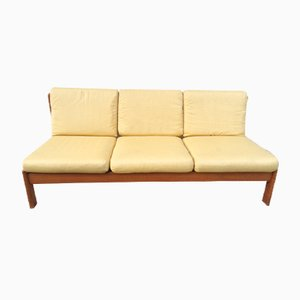 Three-Seater Light Teak Sofa, 1960s