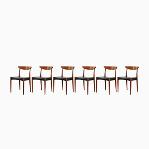 Esszimmerstühle von Arne Hovmand Olsen für Mogens Kold, 1960er, 6er Set