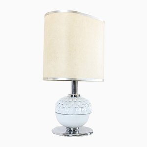 Mid-Century Porcelain Artichoke Lamp