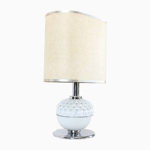 Mid-Century Porzellan Lampe in Artischocken Optik