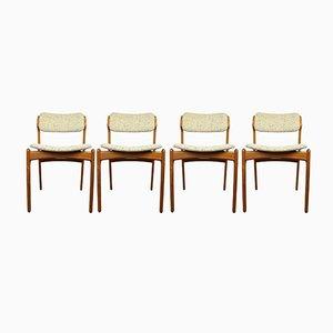 Chaises de Salon par Erik Buch pour O.D. Møbler, 1970s, Set de 4