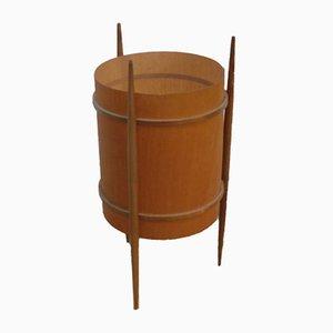 Lámpara de mesa de chapa de madera con tres patas, años 60