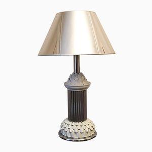 Lampe de Table Mid-Century en Chrome et en Céramique, Italie