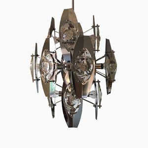 Kronleuchter mit 16 Leuchten von Gaetano Sciolari, 1970er