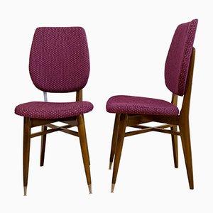 Französische Stühle, 1960er, 2er Set