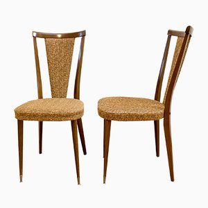French Walnut Chairs, 1970s, Set of 2