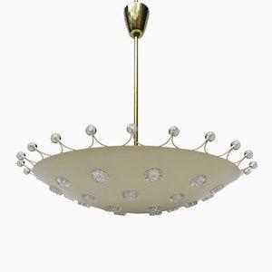 Deckenlampe von L.A. Riedinger Bronzewarenfabrik Augsburg, 1950er