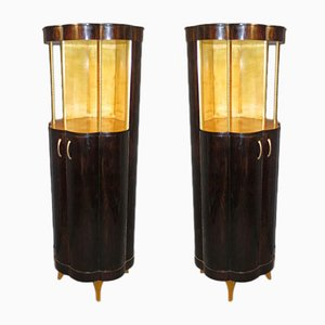 Art Deco Cabinets, 1940s, Set of 2