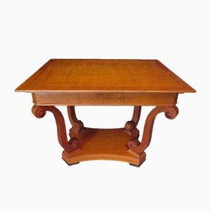 Mesa de centro chapada en madera de cerezo, década de 1900