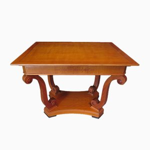 Veneered Coffee Table in Cherry Wood, 1900s