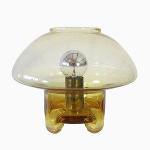 Vintage Glastischlampe in Pilzform von Raak, 1970er