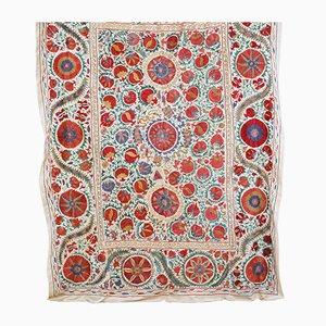 Usbekischer Großer Mid-Century Vintage Seiden Wandteppich