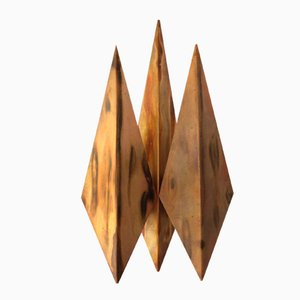 Vintage Diamond Copper Wall Light from Svend Aage Holm Sørensen