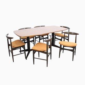 Juego de mesa y sillas de comedor Mid-Century