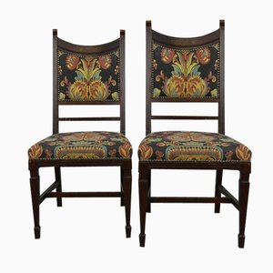 Antique Art Nouveau Dining Chairs, Set of 2