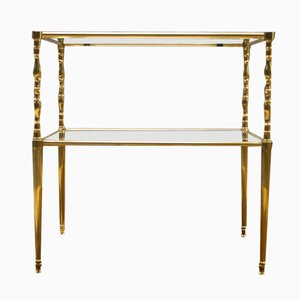 Mid-Century Italian Chiavari Brass Side Table