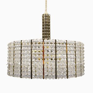 Lámpara de araña austriaca vintage de cristal