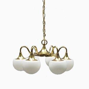 Italian Vintage Brass Ceiling Lamp