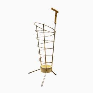 Paragüero austriaco Mid-Century de bambú y latón