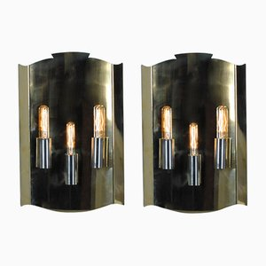 Vintage Wall Sconce in Brass, Set of 2