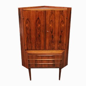 Danish Rosewood Corner Cabinet, 1960s