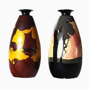 Vintage Vasen von Louis Giraud, 2er Set