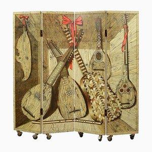 Biombo vintage de madera de Piero Fornasetti