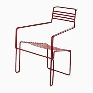 Chaise en Fer Peint et Courbé par Costa Coulentianos, 1990