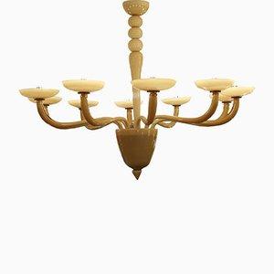 Lámpara de araña veneciana Mid-Century con doce luces
