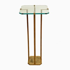 Table d'Appoint en Laiton par Peter Ghyczy, 1970s