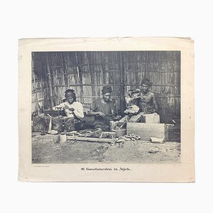 Antique Black and White Dutch East Indies Photo Print by Jean Demmeni for Kleynenberg & Co., 1913 # 90