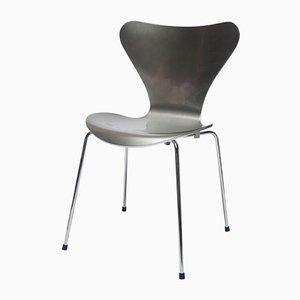 Silberfarbener Special Edition 3107 Stuhl von Arne Jacobsen für Fritz Hansen