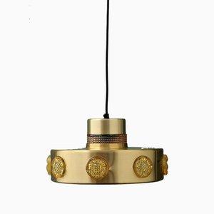 Lámpara colgante Mid-Century de metal y cristal de Vitrika