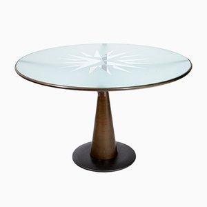 Tavolo Astrolabio di Oscar Tusquets per Aleph, anni '80