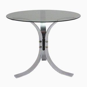 Mesa de centro cromada con tres patas, años 60